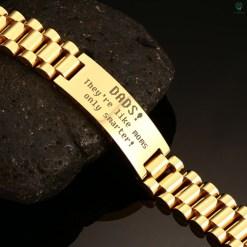 familyloves.com Dads they're like moms only smarter - men Bracelets Default Title %tag