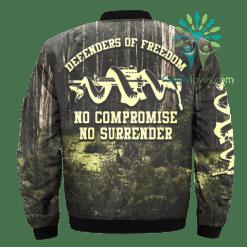 familyloves.com DEFENDERS OF FREEDOM, NO COMPROMISE NO SURRENDER OVER PRINT JACKET %tag