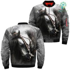 Design 3D Beautiful Horse Art over print jacket %tag familyloves.com