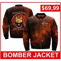 familyloves.com DESIRE TO SERVE over print Bomber jacket %tag