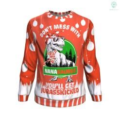 familyloves.com don't mess with nana saurus UGLY CHRISTMAS SWEATER %tag