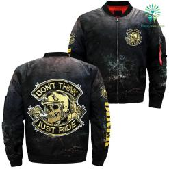 familyloves.com Don't think just ride over print jacket %tag