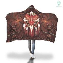 familyloves.com DREAMCATCHER EAGLE NATIVE hooded blanket. %tag