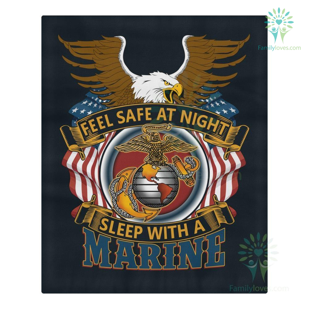 familyloves.com DUVET COVER AND PILLOWCASES FEEL SAFE AT NIGHT SLEEP WITH A MARINE %tag