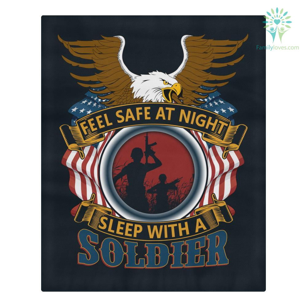 DUVET COVER AND PILLOWCASES FEEL SAFE AT NIGHT SLEEP WITH A SOLDIER %tag familyloves.com