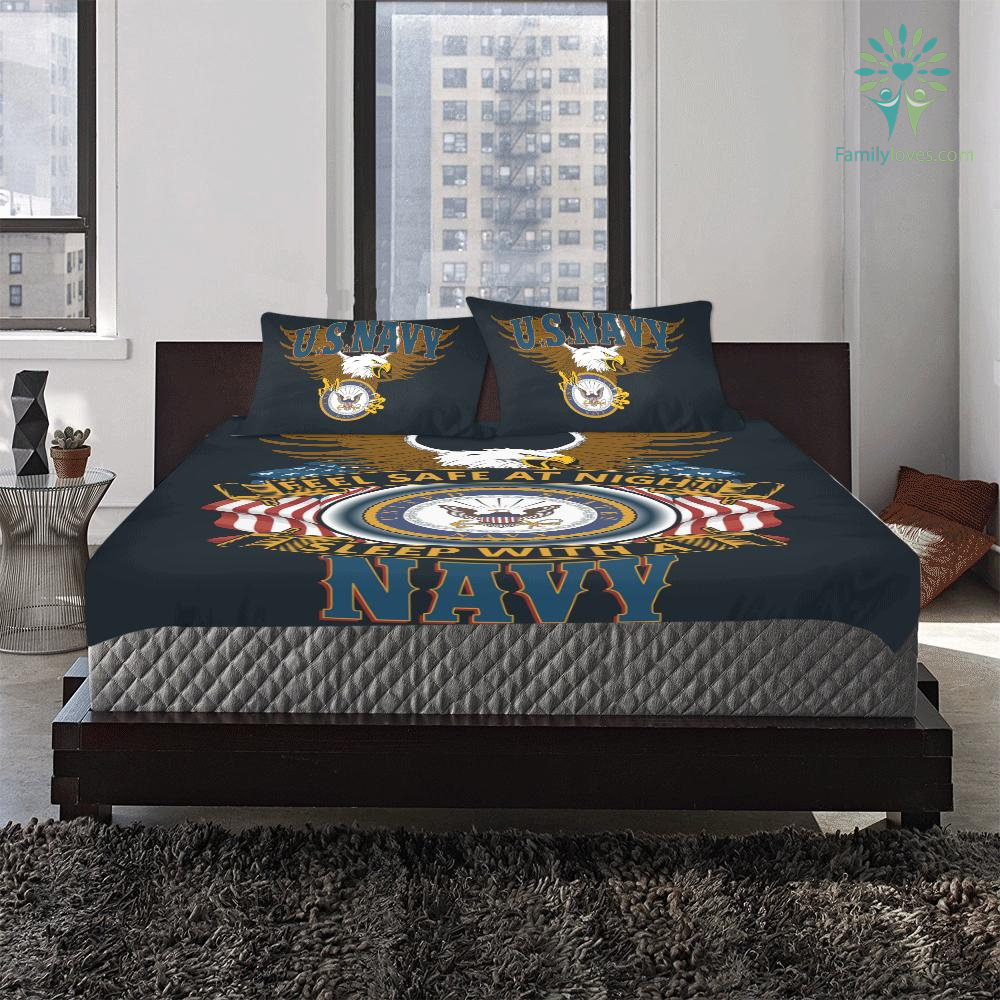 DUVET COVER AND PILLOWCASES FEEL SAFE AT NIGHT SLEEP WITH A NAVY %tag familyloves.com