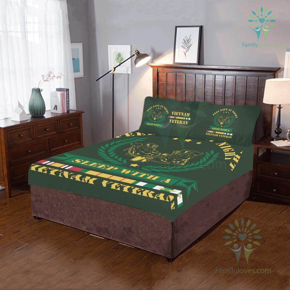 Duvet Cover and Pillowcases feel safe at night sleep with a Vietnam Veteran %tag familyloves.com