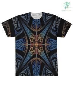 familyloves.com Eagleskull American Native Over Print T-Shirt %tag