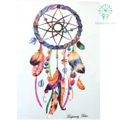 Feather Dreamcatcher Waterproof Hot Temporary Tattoo Stickers 21 X 15 CM %tag familyloves.com