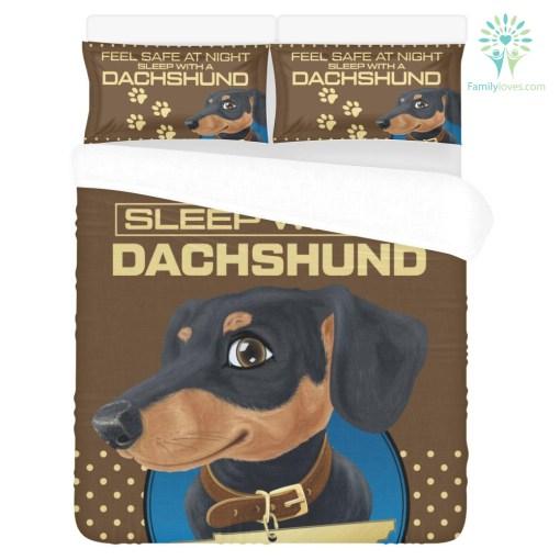 Feel Safe At Night Sleep With a DachShund v1 %tag familyloves.com