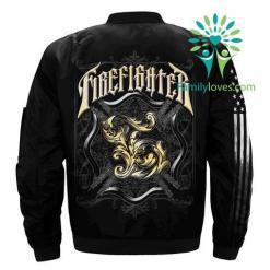 familyloves.com Firefighter 2 over print Bomber jacket %tag