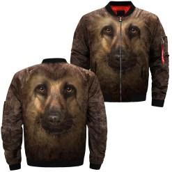 familyloves.com German Shepherd over print jacket %tag
