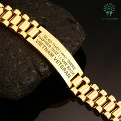 GLAD THAT I WAS THERE HAPPIER THAT I CAME BACK VIETNAM VETERANS - MEN'S BRACELETS %tag familyloves.com