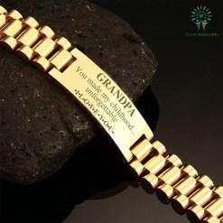 familyloves.com Grandpa you made my childhood unforgettable i love you-men bracelets %tag