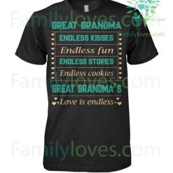 familyloves.com GREAT GRANDMA SHIRTS %tag