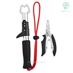 familyloves.com Grip Nipper Snip Fishing Lure Pincer Scissor Cutter Remove Hook Tackle Tool Fish Gripper Grip Default Title %tag