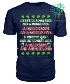 Here's to long life and a merry one...St. Patricks shirt, St. Patrick's Day shirt, St. Patricks day, St Pattys day shirt, Sizes S-5XL %tag familyloves.com