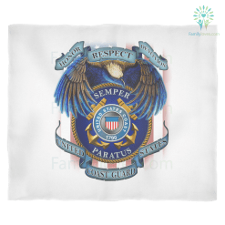 HONOR RESPECT DEVOTION SEMPER PARATUS UNITED STATES COAST GUARD Fleece Blanket %tag familyloves.com