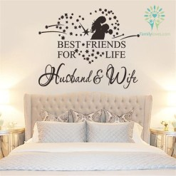 familyloves.com Husband & wife - best friends for life wall art NEW Default Title %tag