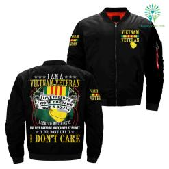 I Am A Vietnam Veteran I Love Freedom I Wore Dogtags I Have A DD-214 over print jacket %tag familyloves.com