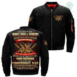 familyloves.com I believe in God. family, guns & country I have been beaten down by politicians... over print Bomber jacket %tag