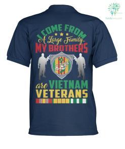 I COM FROM A LARGE FAMILY...MY BROTHER ARE VIETNAM VETERAN? polo shirt %tag familyloves.com