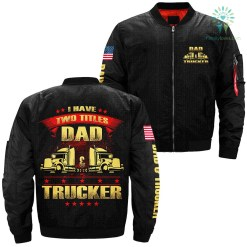 familyloves.com I have two titles dad & trucker over print jacket %tag
