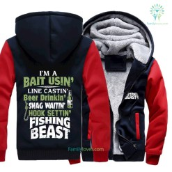 familyloves.com I'm a bait using line casting beer drinking ... zip hoodies %tag