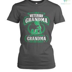 familyloves.com I'm a veteran grandma just like a normal grandma but way cooler? women t-shirt %tag