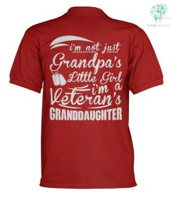 I'M NOT JUST GRANDPA'S LITTLE GIRL I'M A VETERAN'S GARANDDAUGHTER solo shirt %tag familyloves.com