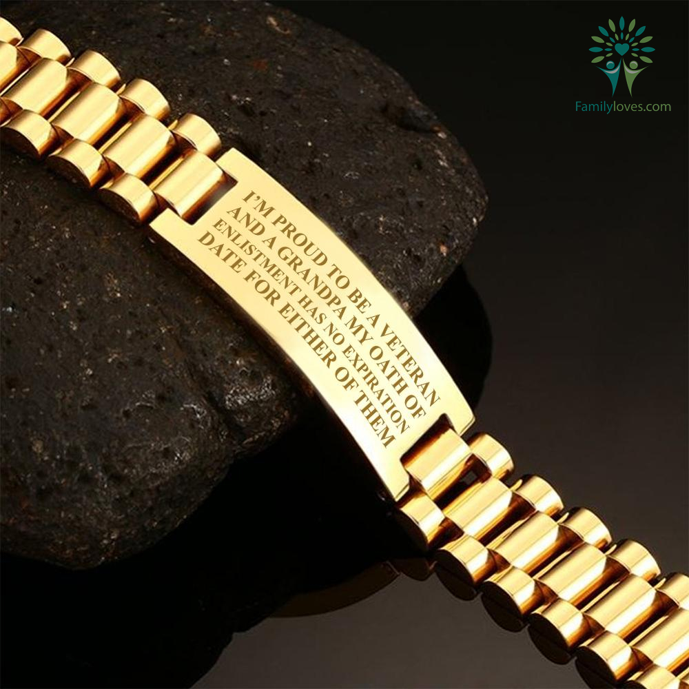 familyloves.com I'm proud to be a veteran and a grandpa my oath of enlistment has...men's bracelets Default Title %tag