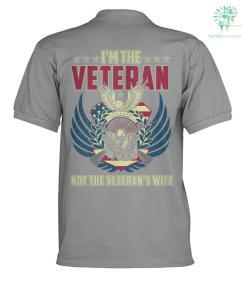 I'M THE VETERAN NOT THE VETERAN'S WIFE? polo shirt %tag familyloves.com