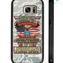 I was a warrior I am no hero but I have served - Airman Samsung, iPhone case %tag familyloves.com