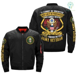 familyloves.com IT CAN NOT BE INHERITED... I OWN IT FOREVER THE TITLE ARMY VETERAN OVER PRINT JACKET %tag