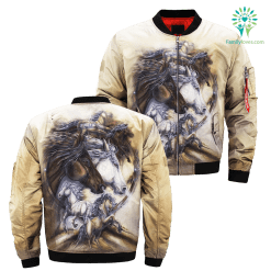Journey is the Reward Horse over print jacket %tag familyloves.com