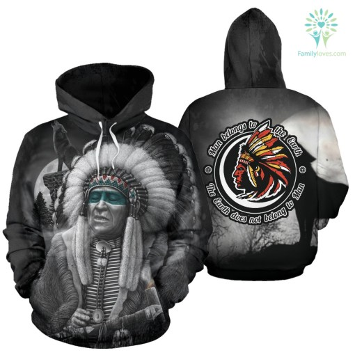 Man Belongs to the Earth - The earth does not belong to Man All Over Hoodie %tag familyloves.com