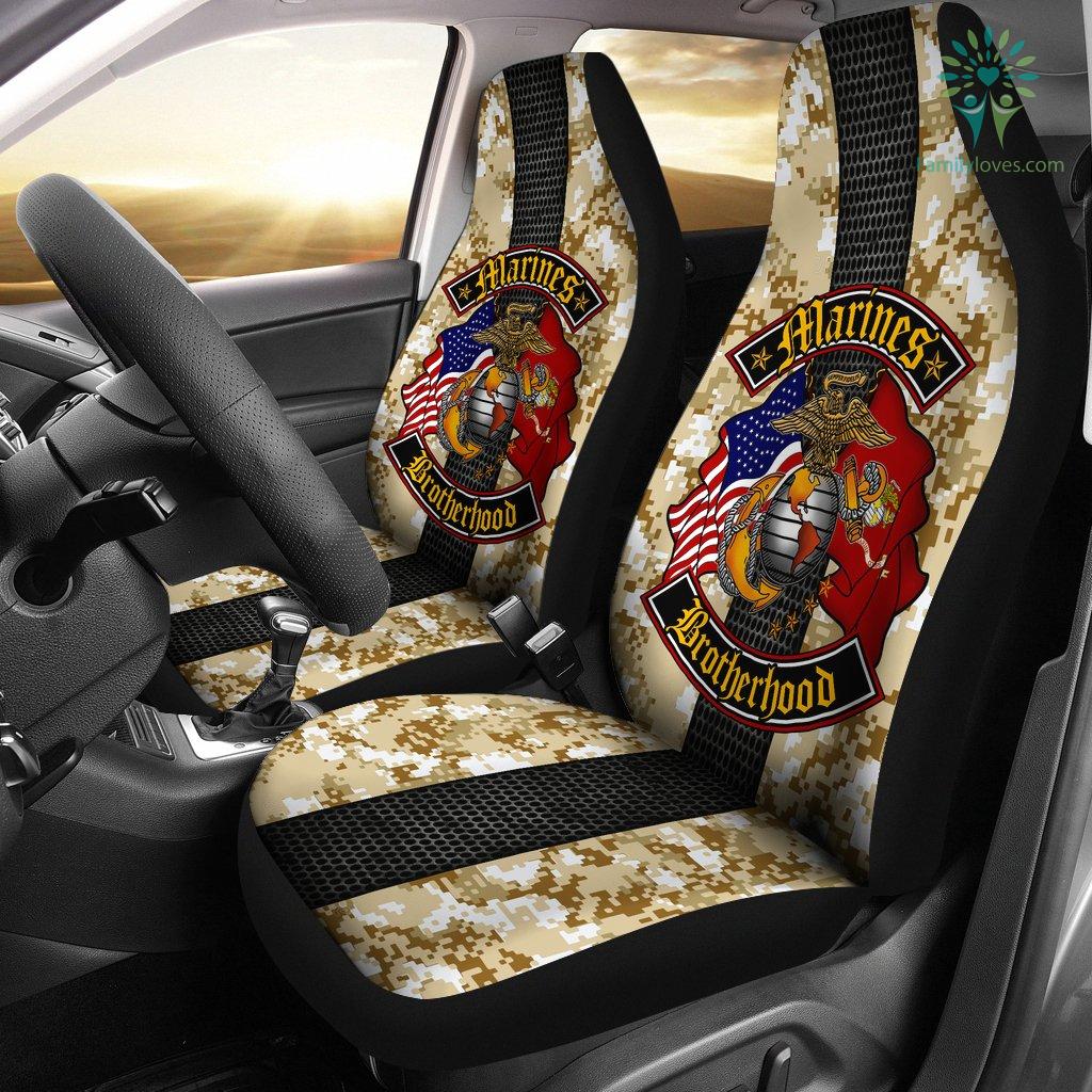 Marines Brotherhood Car Seat Covers %tag familyloves.com