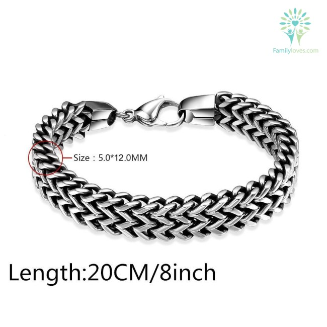 Buy Mens bracelets & Bangles 5*12mm 316L - Familyloves hoodies t-shirt jacket mug cheapest free shipping 50% off