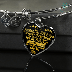 familyloves.com My hero doesn't wear a cape or tights... Luxury Necklace & Bangle Adjustable Bangle Luxury Adjustable Necklace %tag