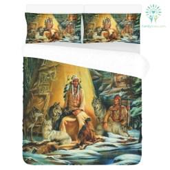 NATIVE AMERICAN ARCHIVES 3-Piece Bedding Set 1 Duvet Cover 2 Pillowcases %tag familyloves.com