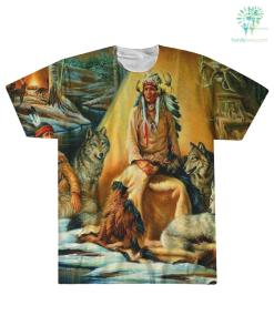 familyloves.com NATIVE AMERICAN ARCHIVES OVER PRINT T-SHIRT %tag