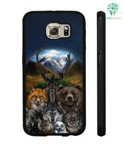 Native American Clothing - Bear Wolf Owl Fox 3D Samsung, iPhone case %tag familyloves.com