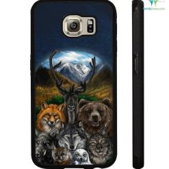 Native American Clothing - Bear Wolf Owl Fox 3D Samsung, iPhone case %tag familyloves.com