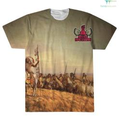 familyloves.com Native American Day To Honor... Over Print T-Shirt %tag