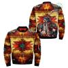 familyloves.com Native American Pow Wow Dancer Over Print Bomber Jacket %tag