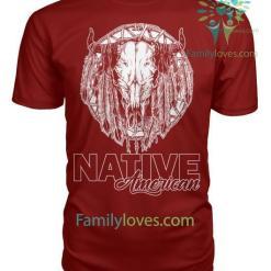 NATIVE AMERICAN SKULL T-SHIRT %tag familyloves.com