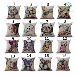 familyloves.com Pet Style Cartoon dog Printing Cover Pillow %tag