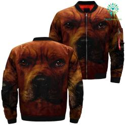 familyloves.com Pitbull Dog over print jacket %tag