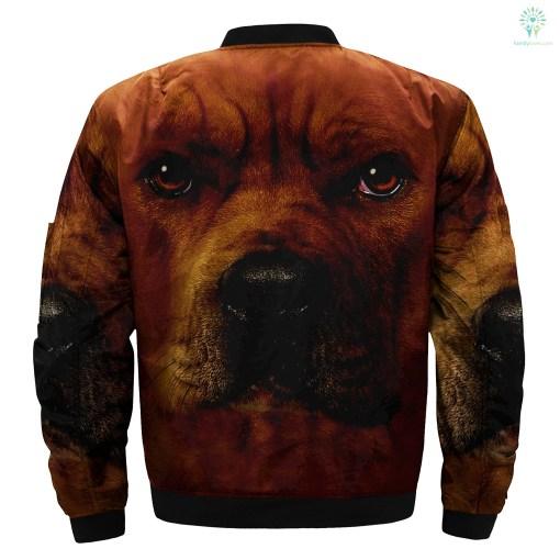 Pitbull Dog over print jacket %tag familyloves.com