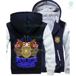 POLICE OFFICER PROTECT & SERVE HOODIE %tag familyloves.com